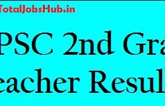 rpsc 2nd grade result