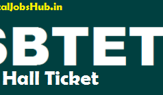 sbtet diploma hall ticket