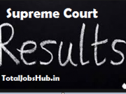 supreme court junior court assistant result