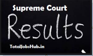 supreme court junior court assistant result