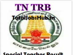 trb tamil nadu special teacher result