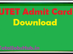 utet admit card