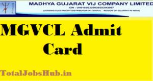 MGVCL Vidyut Sahayak Admit Card