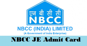 NBCC Junior Engineer Admit Card