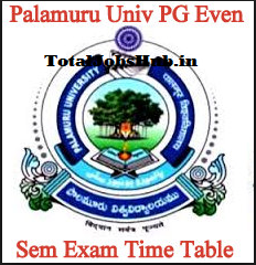 Palamuru University Time Table