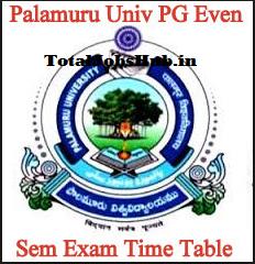 Palamuru University Time Table
