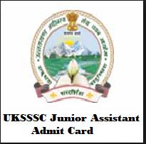 UKSSSC Junior Assistant Admit Card