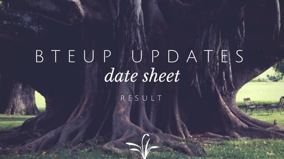 bteup date sheet
