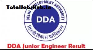dda junior engineer result
