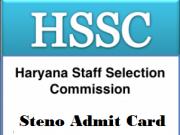 hssc steno typist admit card
