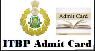 itbp head constable admit card
