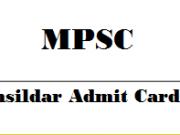 mpsc tehsildar admit card