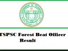 tspsc forest beat officer result