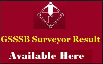 GSSSB Surveyor Result