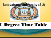 Satavahana University Time Table