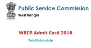 WBCS Admit Card 2018