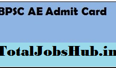 bpsc ae admit card