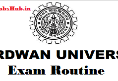 burdwan university routine