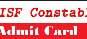 cisf constable admit card
