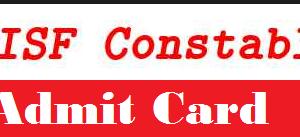 cisf constable admit card