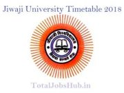 Jiwaji University Time Table 2018