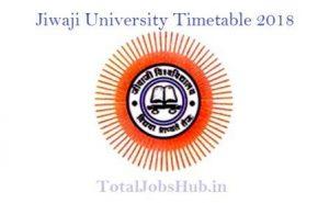 Jiwaji University Time Table 2018