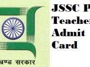 jssc pgt admit card
