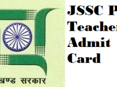 jssc pgt admit card