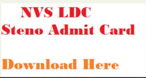 nvs ldc admit card
