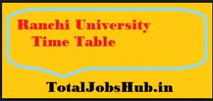 ranchi university time table