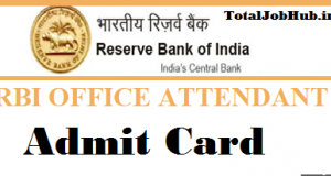 rbi office attendant admit card