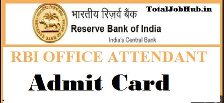 rbi office attendant admit card