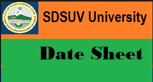 sdsuv date sheet