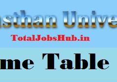 uniraj time table