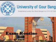 Gour Banga University Routine