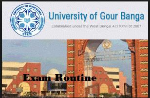 Gour Banga University Routine