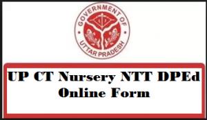 UP CT Nursery NTT DPEd online form