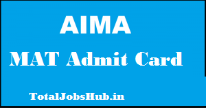 aima mat admit card