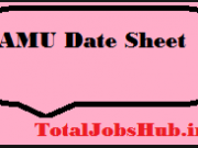 amu date sheet