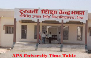 aps university time table