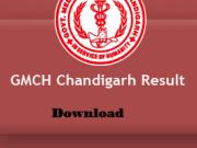 gmch chandigarh result