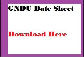 gndu date sheet