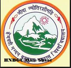 hnbgu date sheet