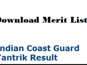 indian coast guard yantrik merit list