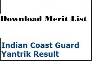 indian coast guard yantrik merit list
