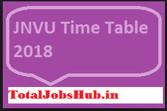 jnvu time table