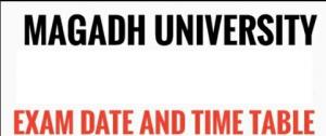 magadh university exam schedule