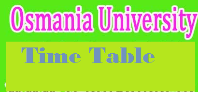 ou degree time table