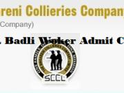sccl badli worker admit card