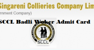 sccl badli worker admit card